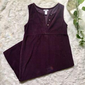 Vintage 1990s Market Dress in Purple Corduroy